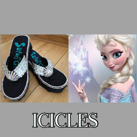 Disney inspired Swarovski crystal flip flop ICICLES