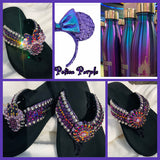 Potion Purple Swarovski crystal flip flop