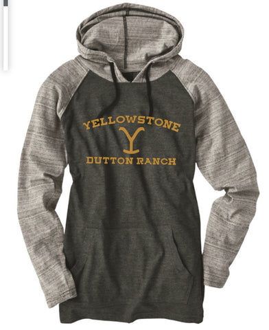 Gray / stripped YELLOWSTONE hoodie