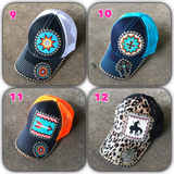 Square beaded patch hat sale