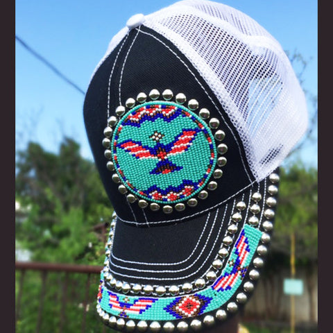 Thunderbird Beaded Cap