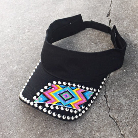 Tribal Beaded Visor