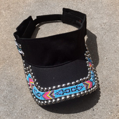 Arrowhead Black Beaded Visor