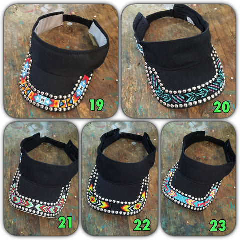 Brim beaded visors