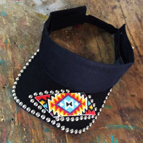 Aztec Beaded Visor