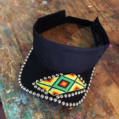 Black Diamond Beaded Visor