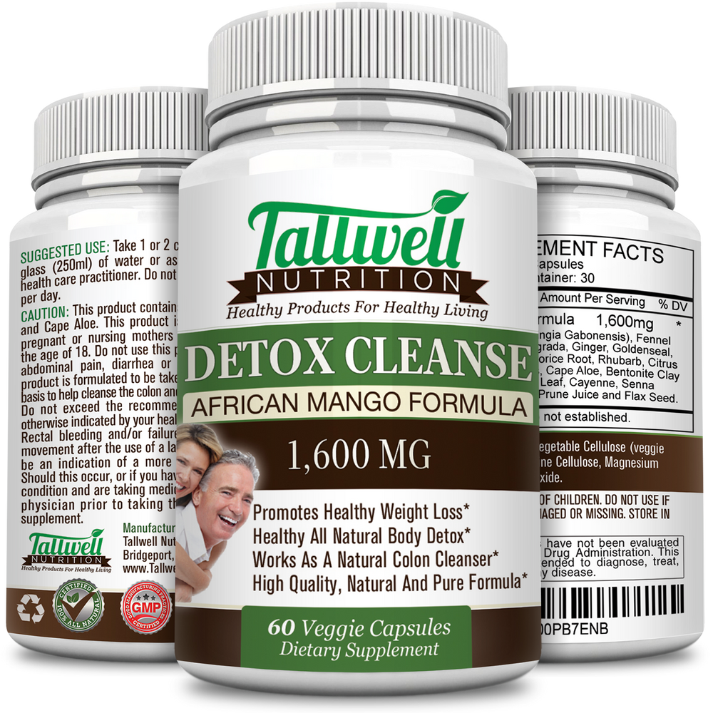 Best Detox & Colon Cleanse For Weight Loss - African Mango Natural Formula - Tallwell Nutrition