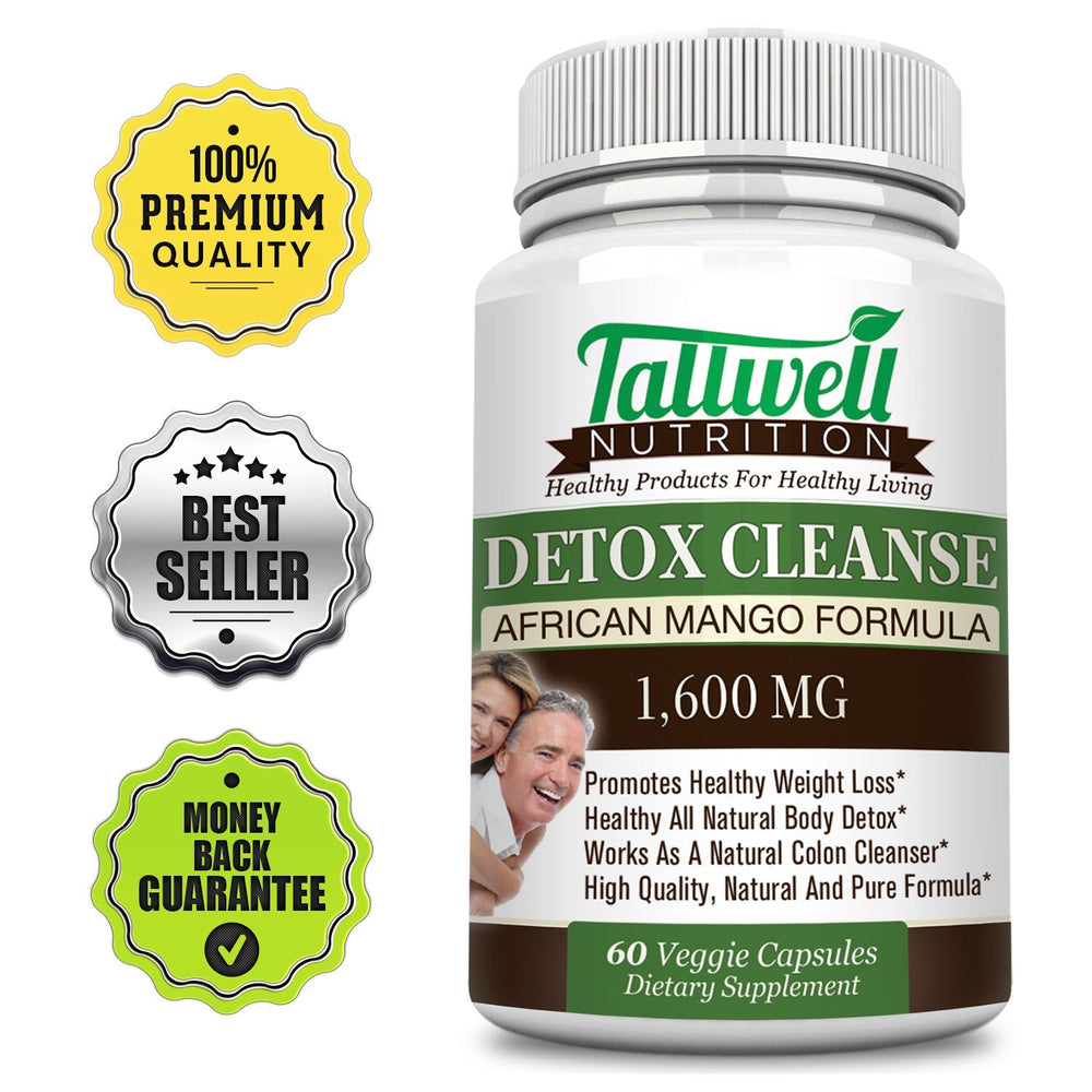 Best Detox & Body Cleanse For Weight Loss - African Mango Natural Formula - Tallwell Nutrition