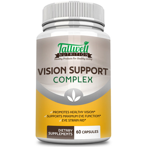 Vision Complex Eye Vitamins with Lutein, Quercetin, Lycopene & Vitamins for Eye Health - Tallwell Nutrition