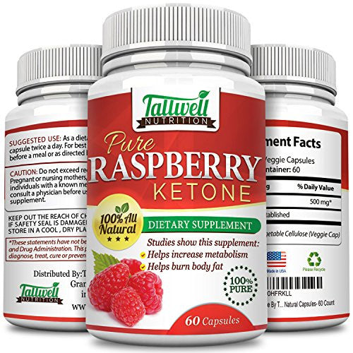 Pure Raspberry Ketone - Metabolism Booster & Natural Energy to Burn Away Fat - Tallwell Nutrition