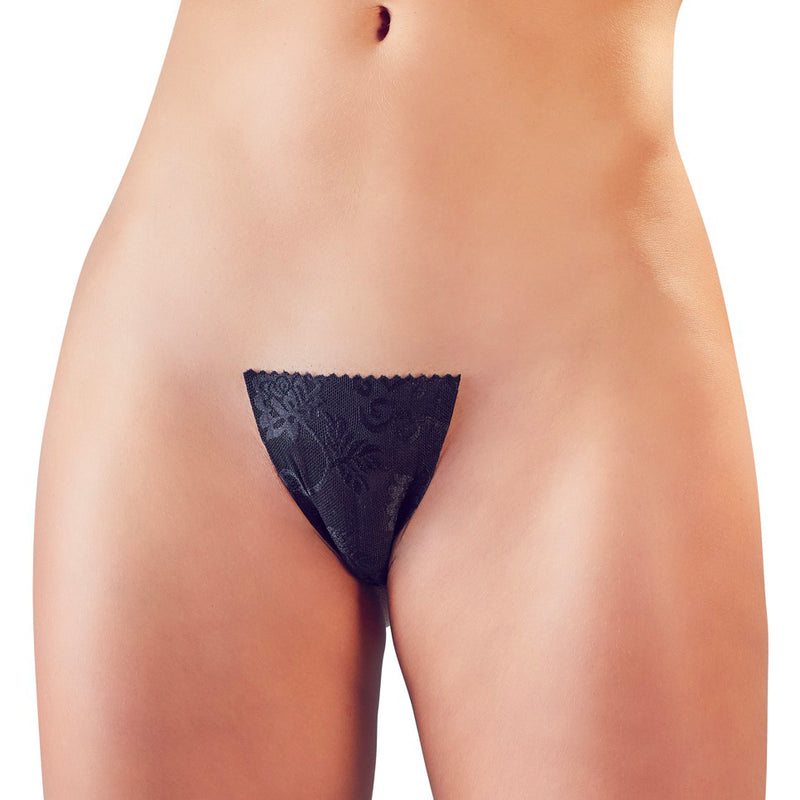 Black Adhesive Invisible GString