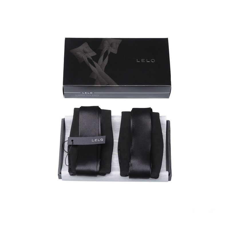 Lelo Etherea Black Silk Cuffs
