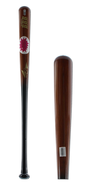 BamBooBat Bamboo Wood Baseball Bat: HBBG30D Black/Brown Adult