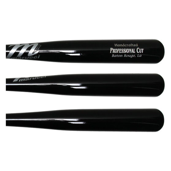 Marucci Pro Cut Maple Wood Baseball Bat: MCMBBCULL Black Adult