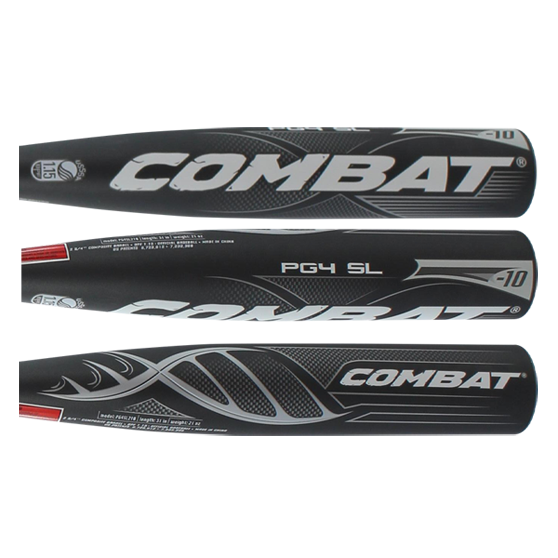 2016 COMBAT Portent G4 Senior League Baseball Bat w/ Lizard Skin Grip: PG4SL210