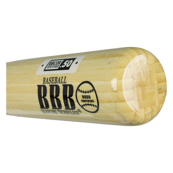 BamBooBat Bamboo Wood Baseball Bat: HNBN100D Natural Adult