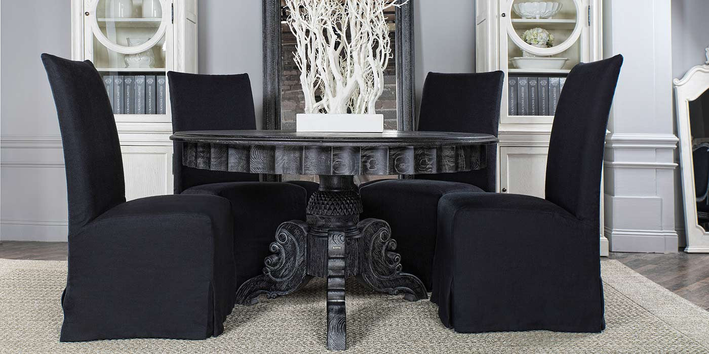 Antique Black French Dining