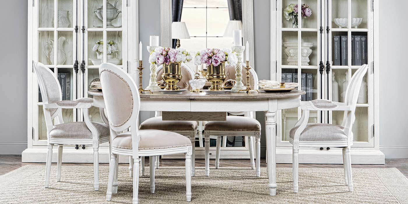 Barocco Vintage White Dining