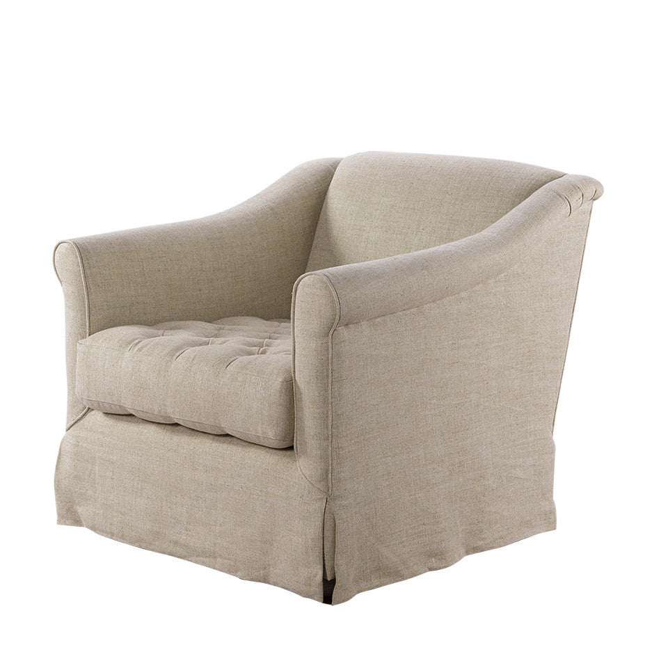 Brussels Linen Arm  Chair