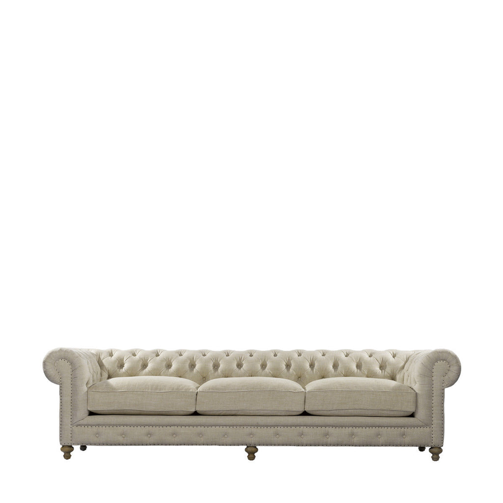 "Curations Limited 118"" Cigar Club Sofa"