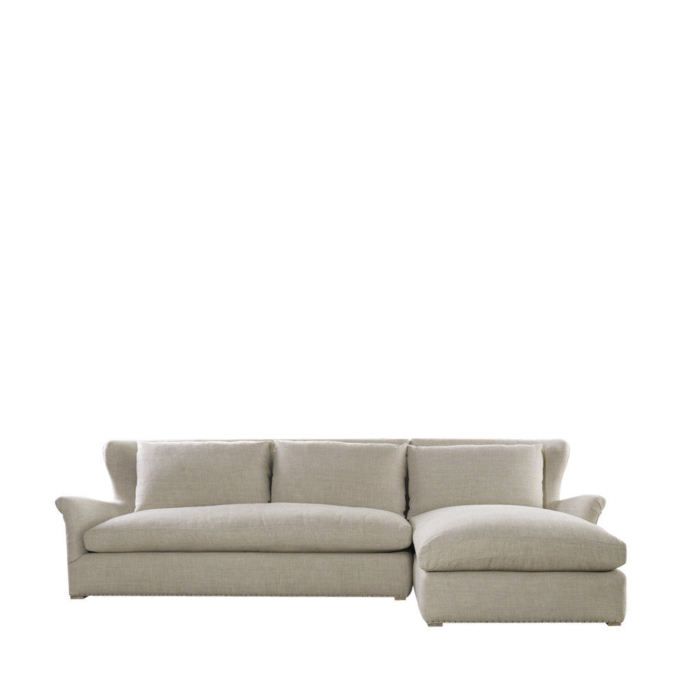 Curations Limited Winslow Sectional Beige Linen