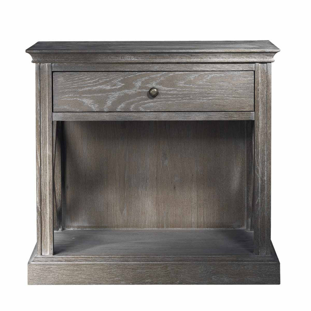 Curations Limited French Casement Accent Table Grey