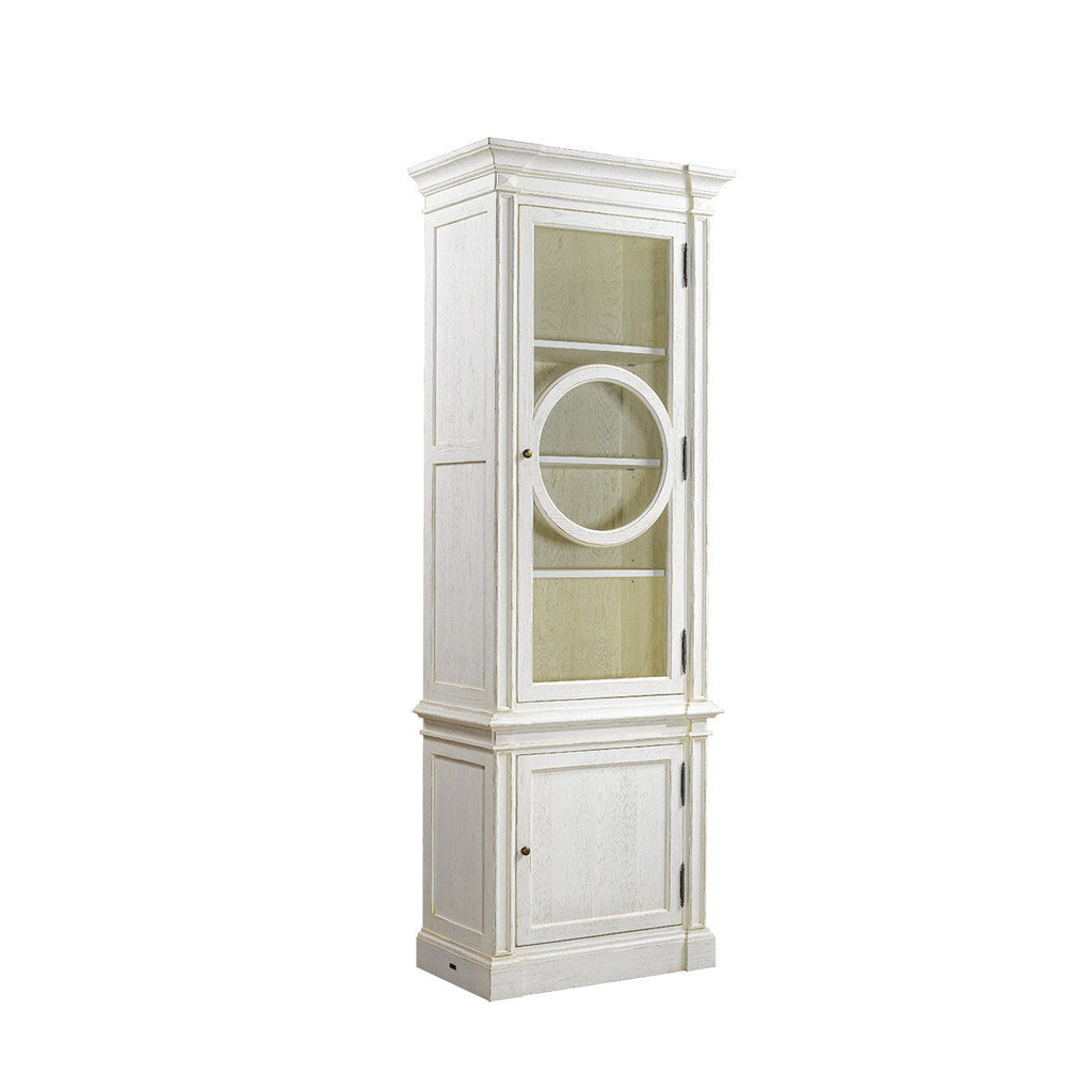 Curations Limited French O-Style Vintage White Cabinet