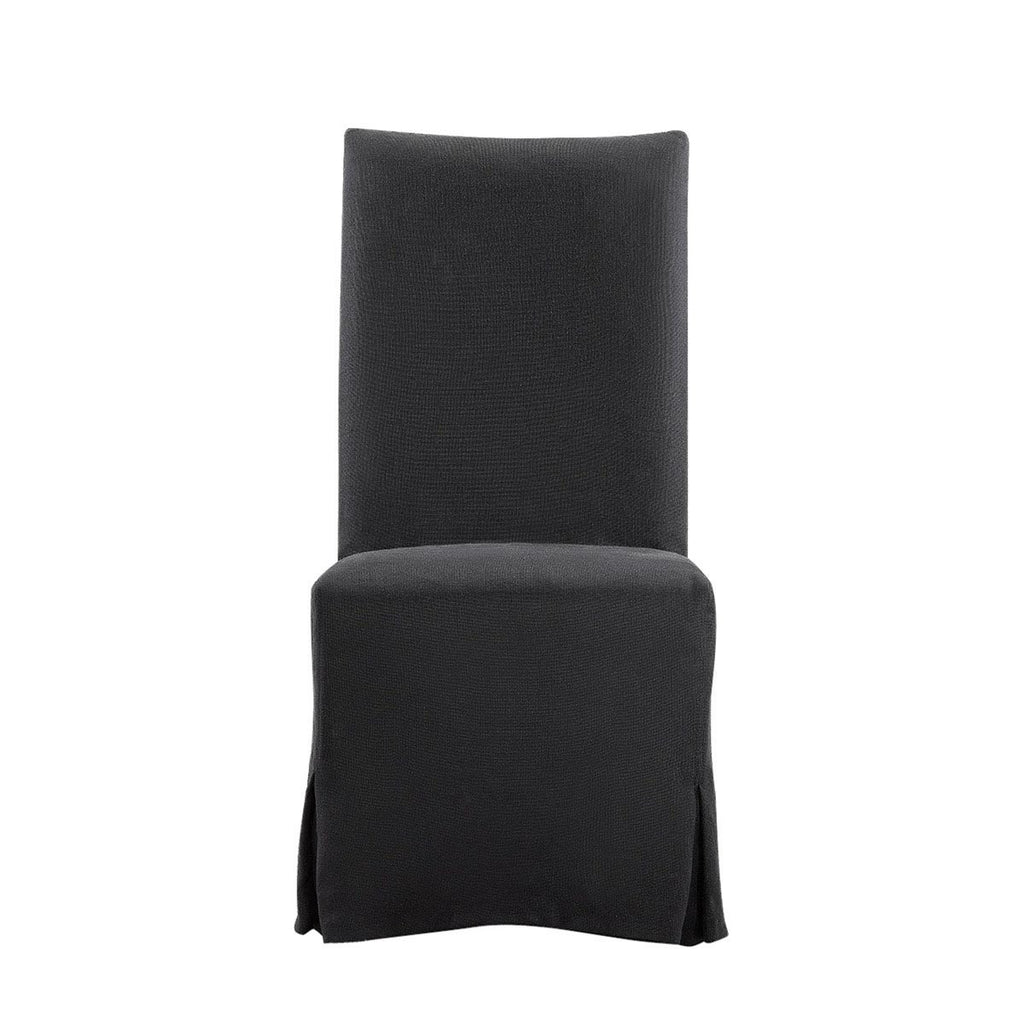 Curations Limited Flandia Black Slip Covered Chair