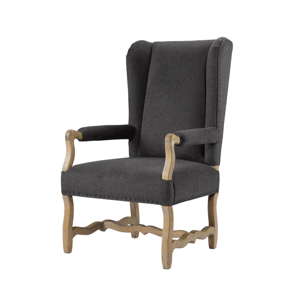 Curations Limited Belgium Wing Wool Arm Chair