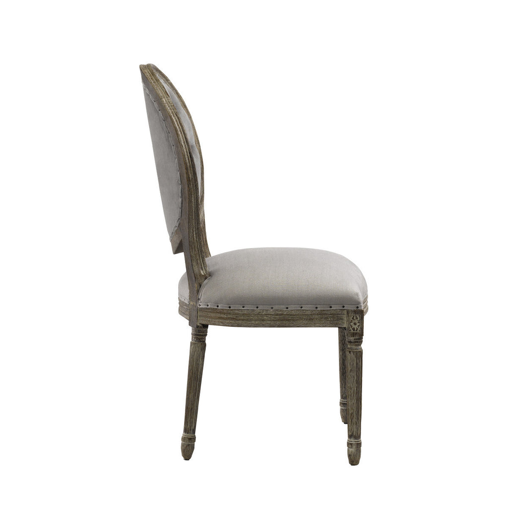 Curations Limited Vintage Louis Button Side Chair