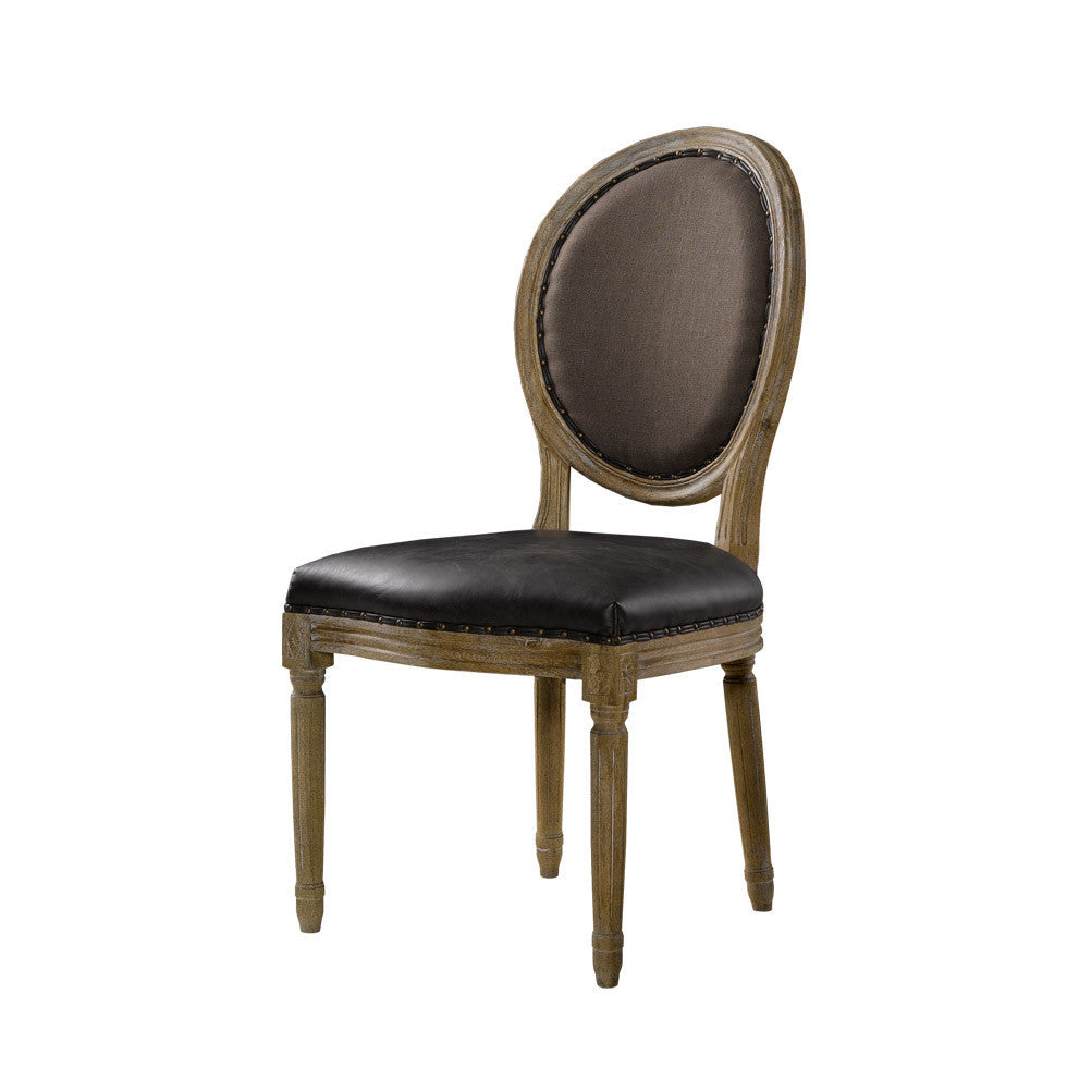 Curations Limited Vintage Louis Glove Round Side Chair