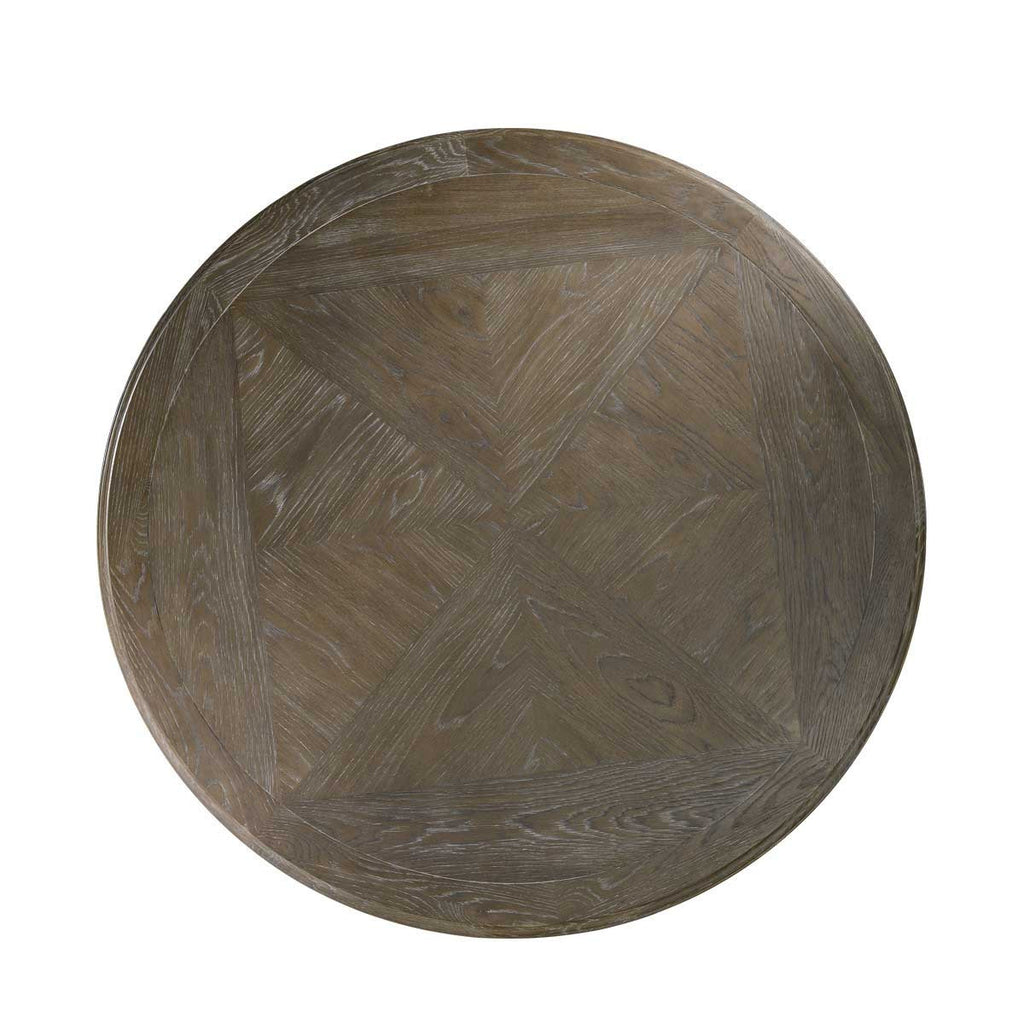 "Curations Limited 63"" French Round Grey Table"