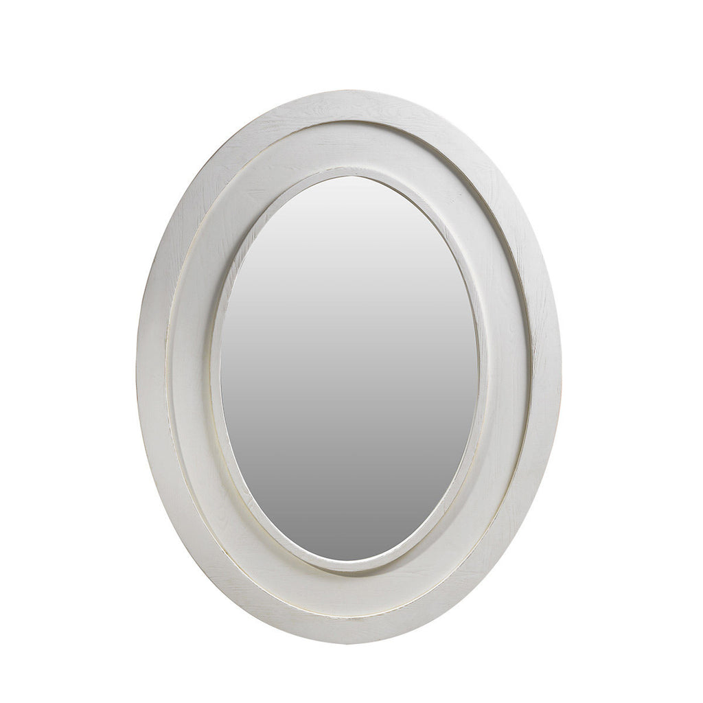 Curations Limited Olmetta  Vintage White Mirror