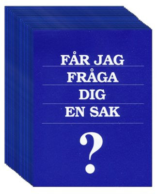 May I Ask You a Question? - Swedish (25 Pack)