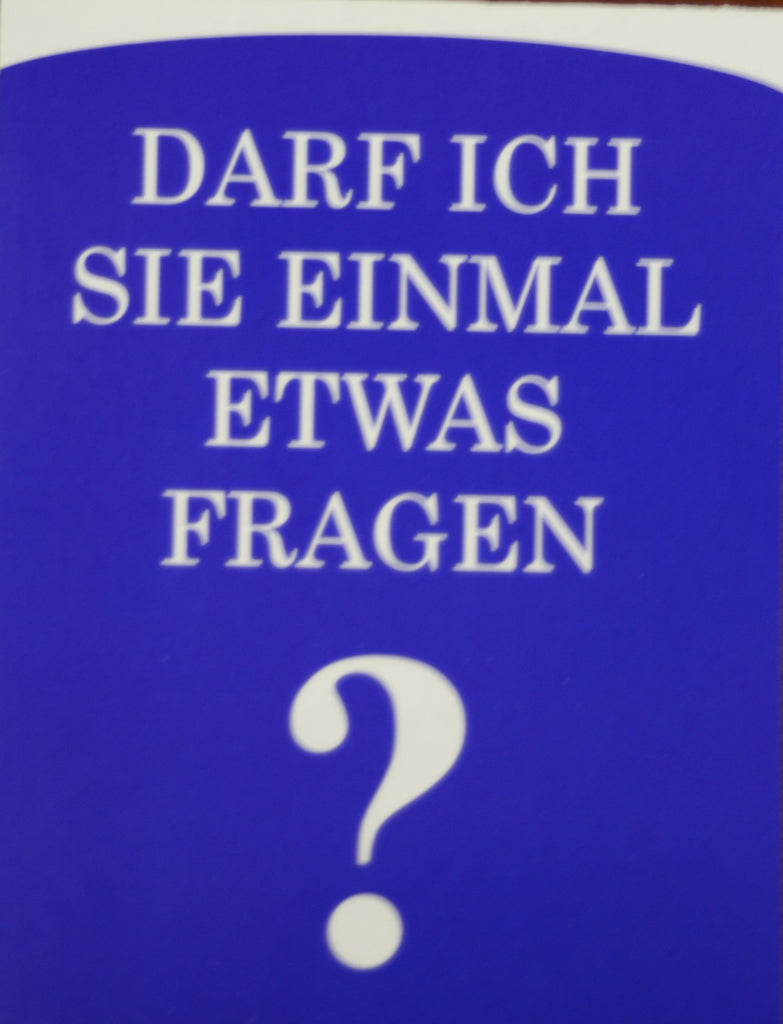 May I Ask You a Question? German (25 Pack)