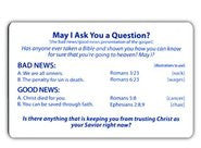 May I Ask You a Question? - Pocket Card (English)