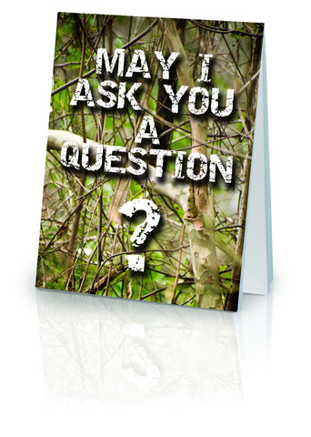 May I Ask You a Question? Hunter - (25 Pack)