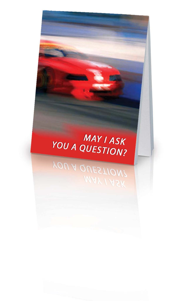 May I Ask You a Question? - Race Car (25 Pack)