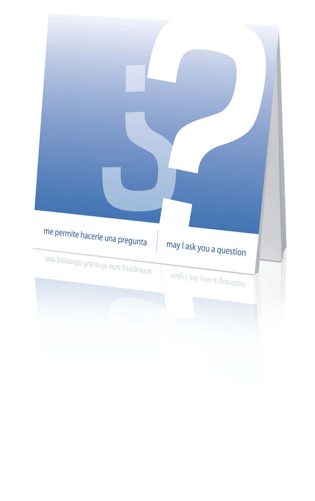 ¿Me permite hacerle una pregunta? /May I Ask You a Question? - Spanish/English (25 Pack)