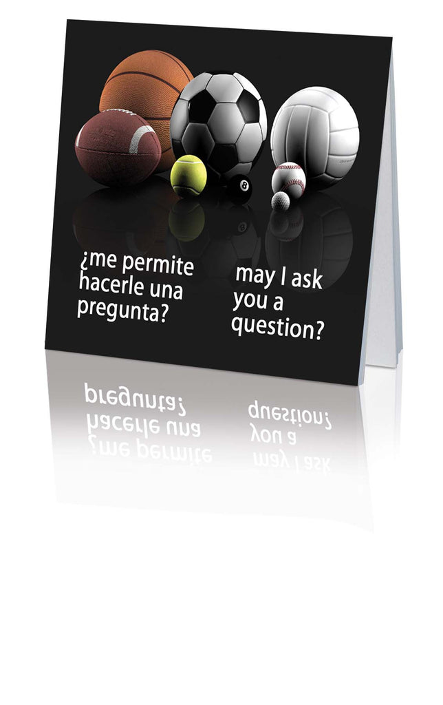 ¿Me permite hacerle una pregunta? / May I Ask You a Question? - Spanish/English Multi-Deportes/Multi-Sport (25 Pack)