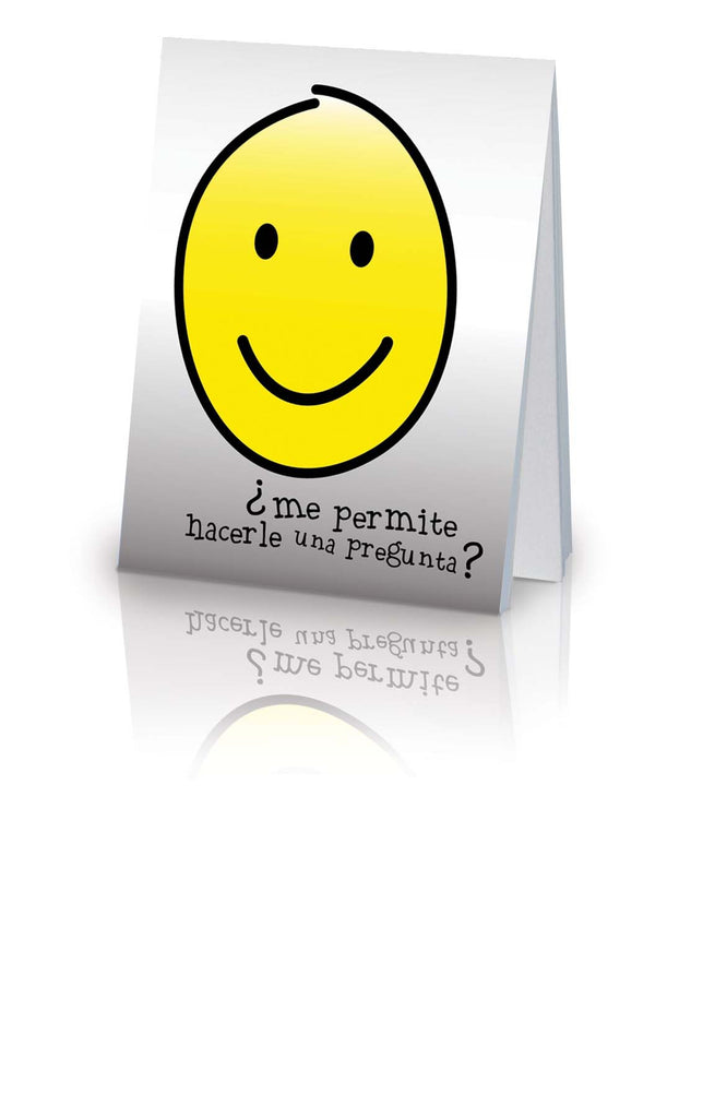 May I Ask You a Question? - Spanish Smiley Face (25 Pack)