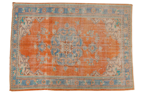 Vintage Distressed Oushak Carpet / ONH item 6578