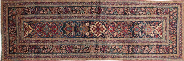 3x9 Antique Kerman Rug Runner