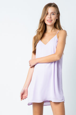 Lavender Chiffon Shift Dress