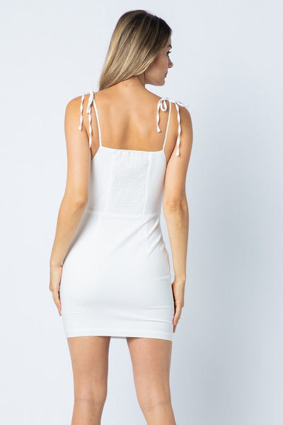 White Tie Straps Maiden Dress