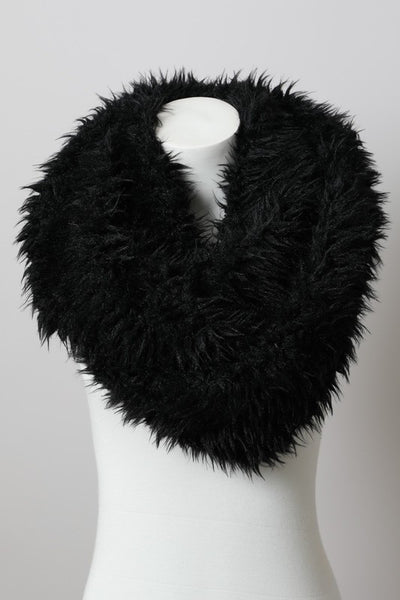 Soft Faux Fur Infinity Scarf--SEE COLORS