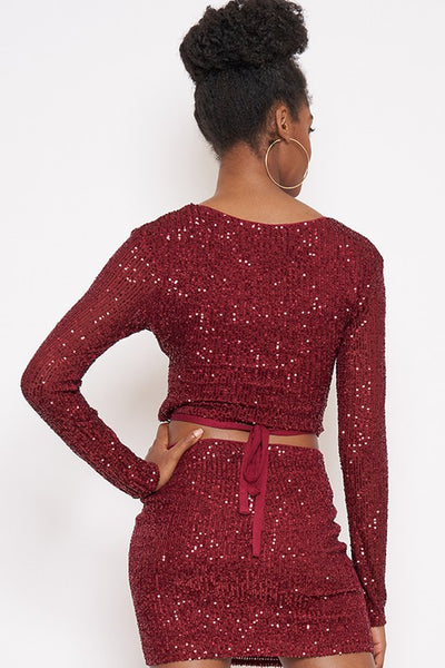 Sequin Mini Skirt --SEE COLORS