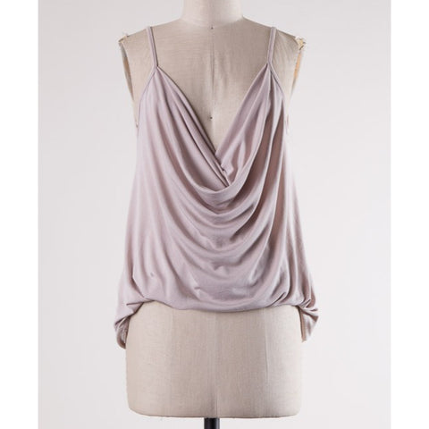 Stone Draped Front Strappy Top**