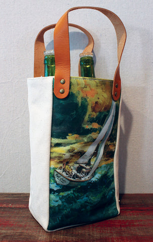 Housemade Evening Sail Double Wine Tote