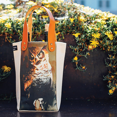 Housemade Owl Double Wine Tote